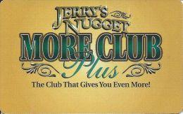 Jerry´s Nugget Casino Las Vegas - Blank Table Card - Cartes De Casino