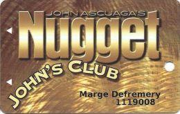 John Ascuaga´s Nugget Casino Sparks NV 3rd Issue Slot Card - Casino Cards