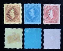 SARAWAK. 1875.  4 STAMPS. - Briefmarken