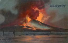 VESUVIO VEDUTO DA NAPOLI  ERUZIONE 5 APRILE 1906 - Napoli (Naples)