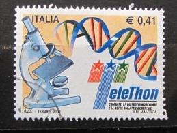 ITALIA USATI 2002 - TELETHON 2002 - SASSONE 2661 - RIF. G 2171 - 1^ SCELTA - 6. 1946-.. Repubblica