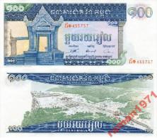 Cambodia - 100 Riels 1972 UNC - Cambodia