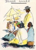 Madagascar - Scènes De Marché - Bonne Année - Croquis Louis Vieux - Madagascar