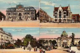 Dusseldorf Allemagne  ....lot Indivisible De 4 Cartes Postales Kunstpalast Cornelius Platz Schloss Postamt - Allemagne
