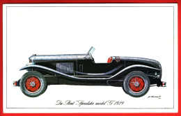 "- Fiche Illustrée. Voiture - Du Pont ""Speedster Model G"" 1929 - - Coches"