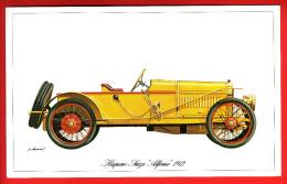 """- Fiche Illustrée. Voiture - Hispano-Suiza """"Alfonso"""" 1912 - - Coches"""