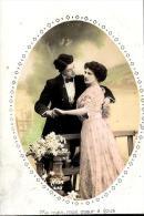 [DC2495] CARTOLINA - COPPIA - Viaggiata 1911 - Old Postcard - Coppie