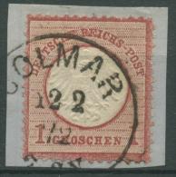 Deutsches Reich 1872 Kl. Brustschild 4 Mit K1 Stempel Colmar Elsaß/Lothringen - Allemagne