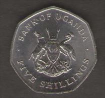 UGANDA 5 CENTS 1987 - Uganda