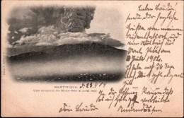 ! Alte Ansichtskarte 1902 Martinique Vulkanausbruch Pont De Pierre, Vulcano, Naturkatastrophe, Catastrophe - Catástrofes