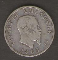 ITALIA 1 LIRA 1863 VITTORIO EMANUELE II AG SILVER - 1861-1878 : Vittoro Emanuele II
