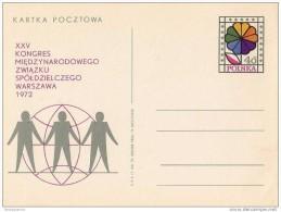 Polen : Carte Postale - Kartka Pocztowa : XXV Ste Congres Vd Internationale Cooperatieve Aliantie WARCHAU 1972 - Stamped Stationery