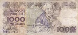 Portugal - Billet De 1000 Escudos - 20 Décembre 1990 - T. Braga - Portugal