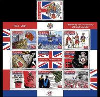 Gibraltar 2004 Miniature Sheet - Tercentenary Of British Gibraltar - Gibilterra