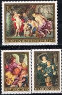 Liechtenstein, 1976, Rubens Paintings, MNH Perforated Set, Michel 655-657 - Rubens