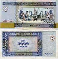 AZERBAIJAN       1000 Manat       P-23       2001       UNC