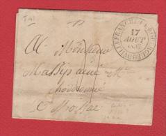 Lettre De Villefranche De Rouergue  --   Pour Moissay  -- 17 Aout 1835 - 1801-1848: Vorläufer XIX