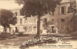 SAMOIS-sur-SEINE   ---  Hôtel  BEAU-RIVAGE  ( Façade ) - Samois