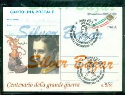 GUERRA 1915-18 - CESENA - RENATO SERRA - EVENTI-MOSTRE- ESPOSIZIONI - INTERO POSTALE-SOPRASTAMAPA PRIVATA-MARCOFILIA - 6. 1946-.. Repubblica