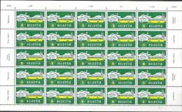 Auto-Post 1953: Zu 314 Mi 586 Im Bogen D111 Mit Ret. 314.3.04c (6.Marke) Zu CHF 27.00 - Abarten