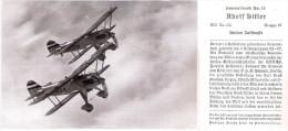 Figurina Originale Di Due Aerei Tedeschi In Volo - LUFTWAFFE - Periodo II Guerra Mondiale - Aviazione