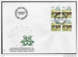 SCHWEIZ 1982 - Astrologie / Zwillinge Tierkreiszeichen - MiNr.1231 FDC Mit 4er Block - Astrologie