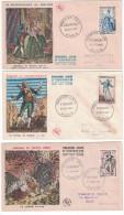 France - Lot De 3 Enveloppe Illustrée Premier 1er Jour FDC De 1953 CELIMENE FIGARO HERNANI - 1950-1959