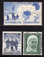 AUSTRALIEN - Antarktisforscher - MiNr.1/ 6/ 7 - Polarforscher & Promis