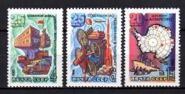 UdSSR 1981 ** Antarktisforscher Und 20 J. Antarktisvertrag - MiNr.5028-5030 MNH - Polarforscher & Promis