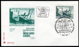 ÖSTERREICH 1973 - Österreichische Nordpolar Expedition / Entdeckung D.Franz Josef Landes- Sonderstempel FDC - Polarforscher & Promis