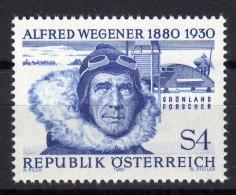 ÖSTERREICH 1980 ** Polarforscher, Alfred Wegener - MNH - Polarforscher & Promis
