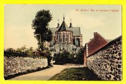 * Saint Hubert (Luxembourg - La Wallonie) * Vue De Derrière L'église, Kerk, Church, Kirche, Rare, Old, CPA, Couleur - Saint-Hubert