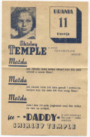 SHIRLEY TEMPLE - Actress, Cinema Program, Movie, Flyer, 1930s - Programs