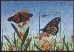 MINT NEVER HINGED SOUVENIR SHEET OF BUTTERFLIES  #  096-7  (  BHUTAN  1243 - Schmetterlinge