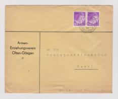 Heimat SO Schönenwerd 1937-09-18 Brief Portofreiheit Armen- Er - Franchise