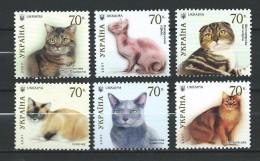 Ukraine 2007 Mi - 871/876.Cats.Chats.MNH - Ukraine