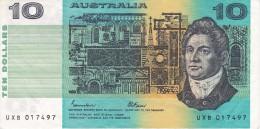 BILLETE DE AUSTRALIA DE 10 DOLLARS  DEL AÑO 1985 CALIDAD MBC (VF)  (BANKNOTE) - Decimal Government Issues 1966-...