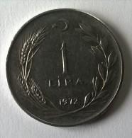 Monnaie - Turquie - 1 Lira - 1972 - Superbe - - - Turquie