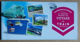 La Grande épopée Du Voyage En Train AVEC Cachets Du 14.06.2014 (autocollants / Autoadhésifs) - Gelegenheidsboekjes