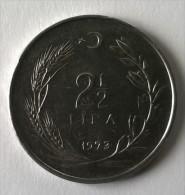 Monnaie - Turquie - 2 1/2 Lira - 1973 - Superbe +++ - - Turquie