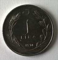 Monnaie - Turquie - 1 Lira - 1974 - Superbe +++ - - Turquie