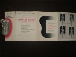 Dépliant Suisse Moutier , Fabrique De Porte échappements Charles Gorgé , Ancre Cylindre Roskopf , Horlogerie - Vieux Papiers