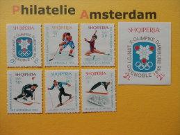 Albania 1967, OLYMPICS GRENOBLE: Mi 1233-38, + Bl. 31, ** - Winter 1968: Grenoble