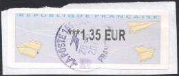 France, Franking Label M # 33, Used, - 2000 «Avions En Papier»