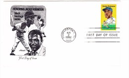 1982 USA Jackie Robinson 20c First Day Cover - First Day Covers (FDCs)