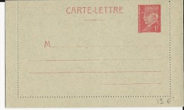 PETAIN - 1941 - CARTE LETTRE ENTIER GRIS BLEUTE NEUVE - COTE STORCH = 45 EUR.