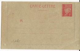 PETAIN - 1941 - CARTE LETTRE ENTIER GRIS CHAMOIS - - Entiers Postaux