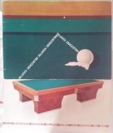 M#0M57 BILIARDI DE AGOSTINI - CATALOGO 8 MODELLI Anni '60 - Billiards