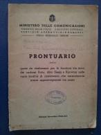 M#0M59 PRONTUARIO QUOTE VIA TERRA DEI CARBONI RUHR, ALTA SLESIA E KARWINA Ed.1940 - Historical Documents