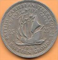 British Caribbean Territories 25 Cents 1955 Et 1965 Clas D 63 - Caraïbes Orientales (Etats Des)